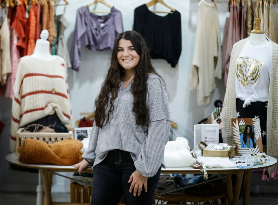 <strong>Angelina Maher, 17, will soon open a fashion boutique inside the Depot Square in Arlington. </strong>(Mark Weber/The Daily Memphian)