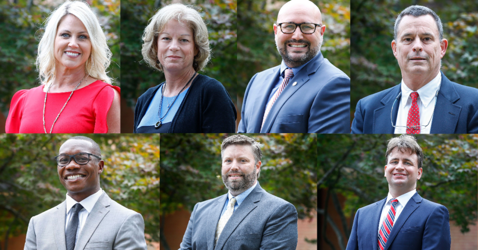 <strong>Germantown candidates include (from left, top) Terri Johnson, Sherrie Hicks, Brandon Musso, Jon McCreery,&nbsp;</strong><strong>(bottom) Rod Motley, Brian Ueleke and John Paul Miles.</strong> (Daily Memphian file photos)