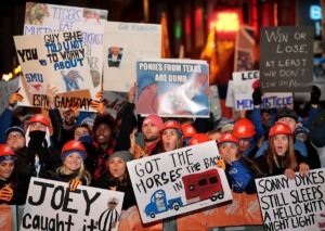 """<strong>It was only a year ago, on Nov. 2, 2019, that Tigers football fans cheered for the cameras during the live broadcast on Beale Street of ESPN's """"College GameDay.&rdquo;</strong> (Jim Weber/Daily Memphian file)"""
