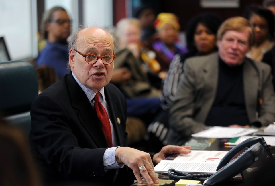 <strong>Congressman Steve Cohen speaks to his constituents during a Jan. 17, 2020, town hall meeting in his office. He focused mainly on impeachment-related issues.</strong> (Patrick Lantrip/Daily Memphian)