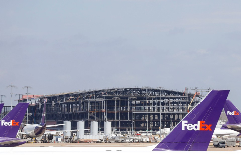 <strong>The world hub project (in a July file photo) is among the capital items FedEx has invsted in.</strong> (Mark Weber/Daily Memphian)
