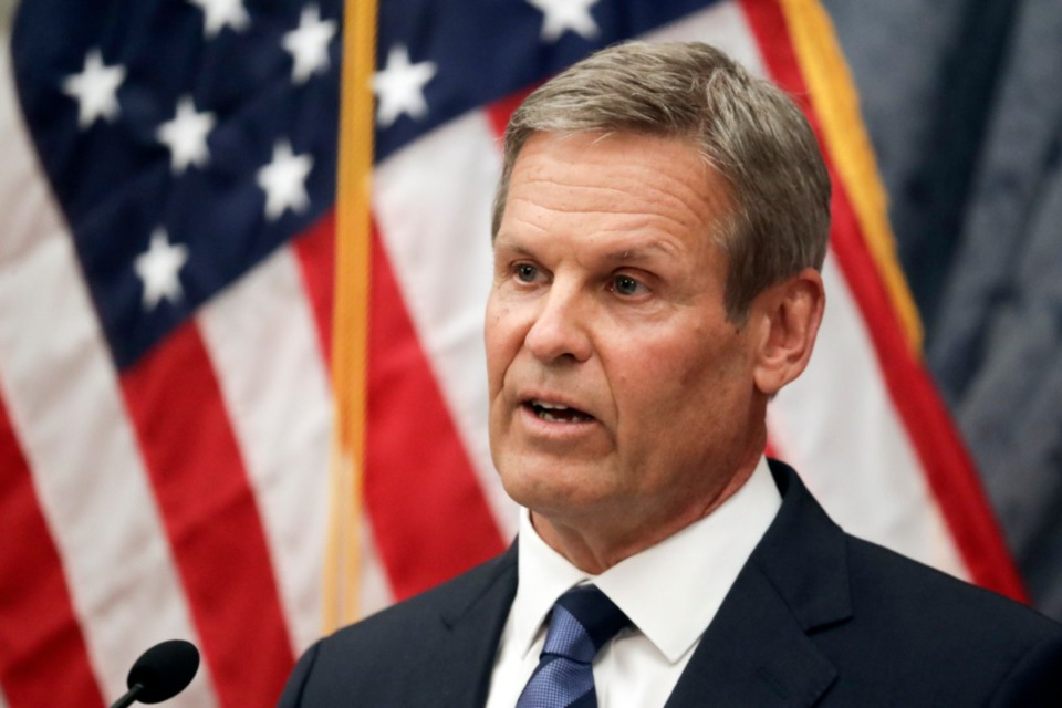 <strong>Tennessee Gov. Bill Lee, seen here in July,&nbsp;has granted a temporary reprieve to Pervis Payne.</strong> (Mark Humphrey/AP)