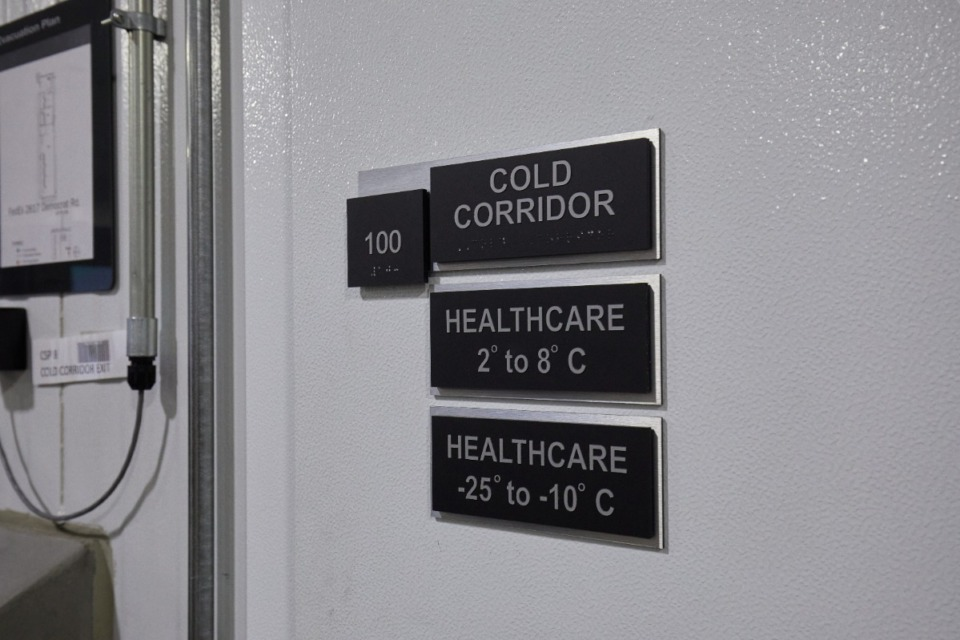 <strong>FedEx&rsquo;s $25 million Cold Chain Centers around the world have been adapted to provide the ultra-cold storage needed for coronavirus vaccine.</strong> (Courtesy FedEx)