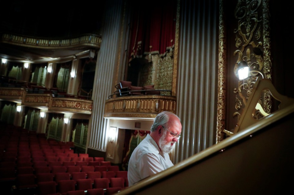 <strong>Local historian and organist Vincent Astor plays the Orpheum&rsquo;s Mighty Wurlitzer organ on Thursday, Nov. 5. On Nov. 19, the Orpheum will have a homecoming concert for the organ, which recently returned from a yearlong, $500,000 restoration. </strong>(Mark Weber/Daily Memphian)