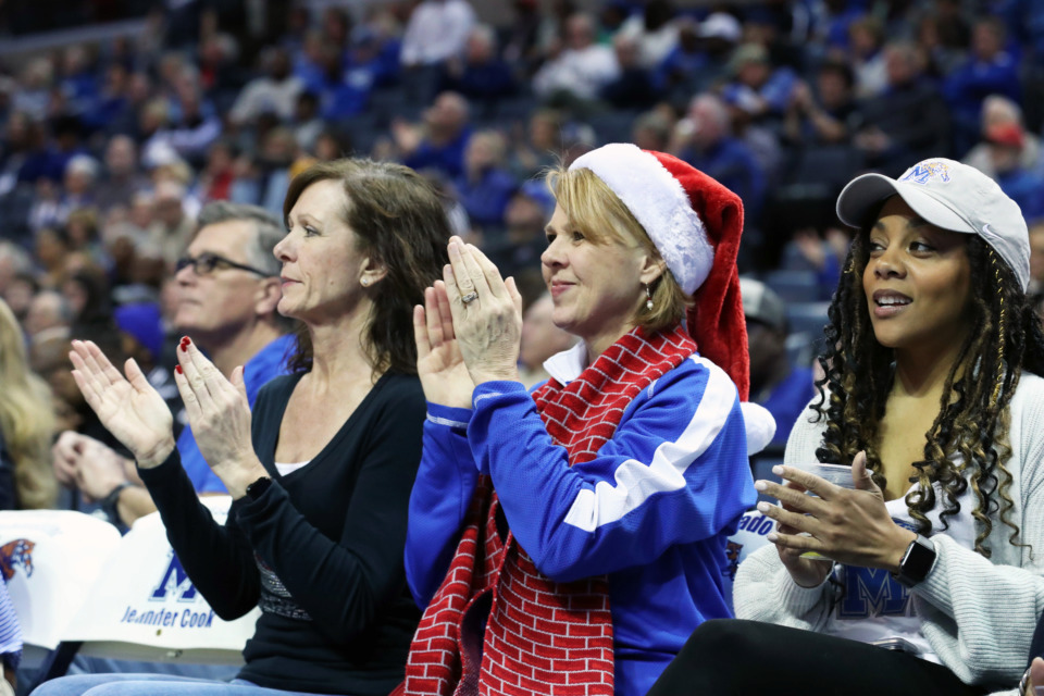 <strong>University of Memphis fans cheer on the Tigers during the game against Tennessee State at FedExForum in Memphis on Saturday, Dec. 22, 2018.</strong> (Karen Pulfer Focht/Special to The Daily Memphian)