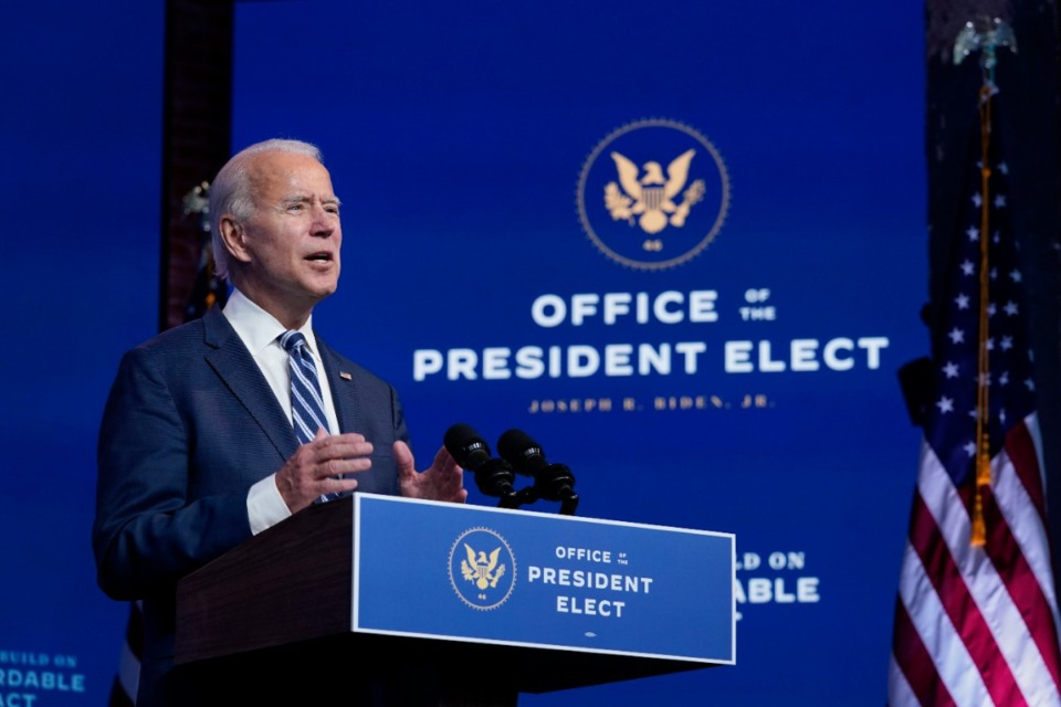 <strong>President-elect Joe Biden (speaking at The Queen theater, Tuesday, Nov. 10, 2020, in Wilmington, Del.) could have an effect on Memphis&rsquo; economy.</strong> (Carolyn Kaster/AP)
