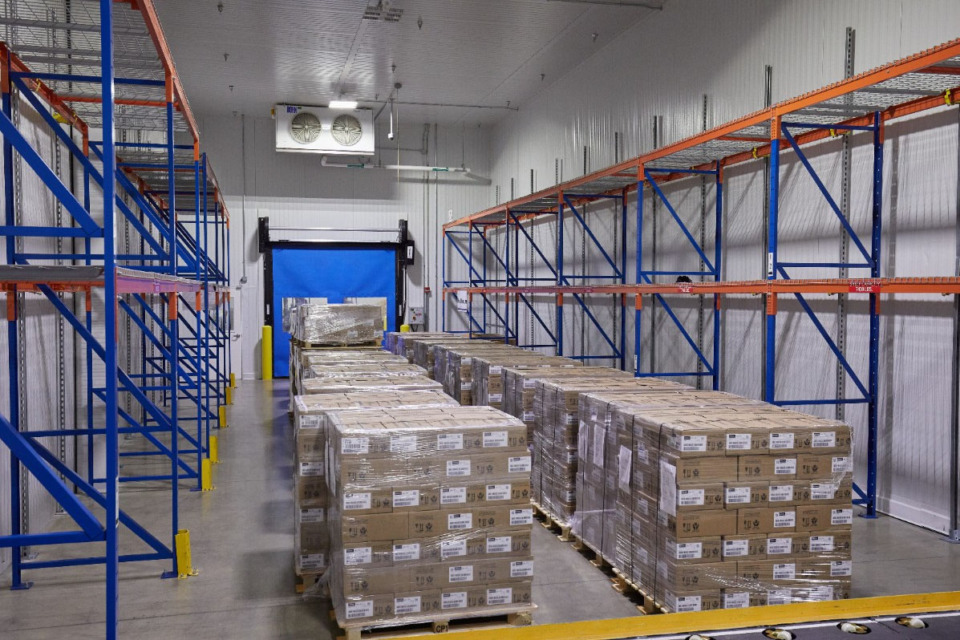 T<strong>he FedEx Cold Chain Center was built to hold shipments such as medicine, perishable foods and flowers in climate-controlled conditions, from room temperature down to minus-13 degrees Fahrenheit, which would cover common temperature ranges for most vaccines.</strong> (Submitted by FedEx)