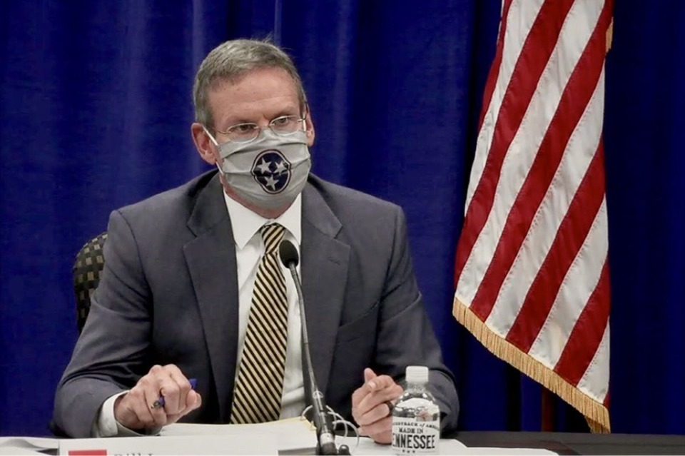 <strong>Gov. Bill Lee holds budget hearings in Nashville to discuss Tennessee&rsquo;s spending plan for the fiscal year that begins on July 1, 2021.</strong> (Courtesy of Marta W. Aldrich, Chalkbeat)