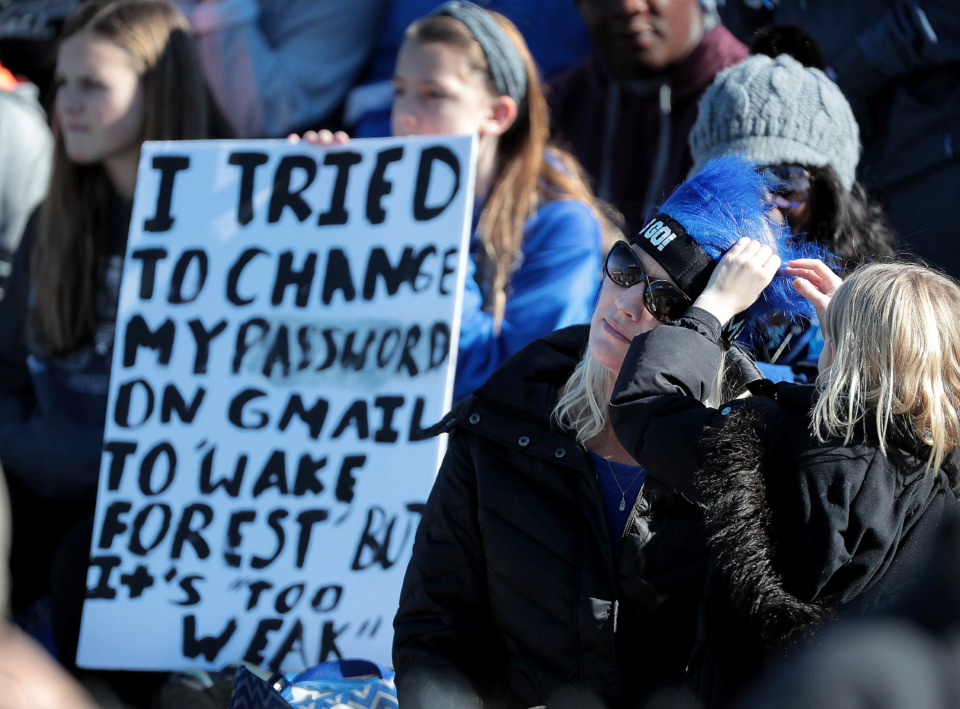 <strong>University of Memphis fans come prepared with anti-Wake Forest rhetoric during the Birmingham Bowl on Dec. 22, 2018, at Legion Field in Birmingham, Ala.</strong> (Jim Weber/Daily Memphian)
