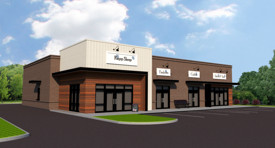 <strong>It&rsquo;s a&nbsp;WRapp&nbsp;deli will occupy one of the four bays in a 4,900-square-foot retail center planned for a 0.9-acre lot toward the northern end of Airline Road in Arlington</strong>. (Courtesy rendering)