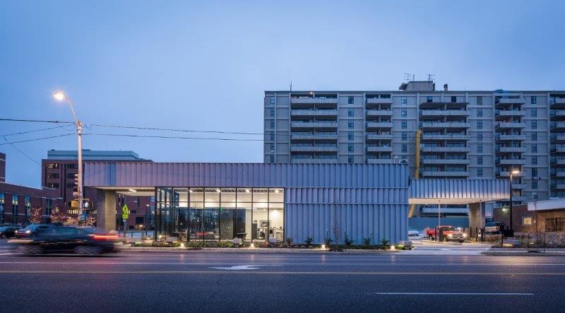 <strong>Judges said of the Orion Federal Credit Union branch at 821 Poplar, &ldquo;The diagram for this project set the tone for a humble building having a big impact.&rdquo;</strong>&nbsp;(Credit: archimania)