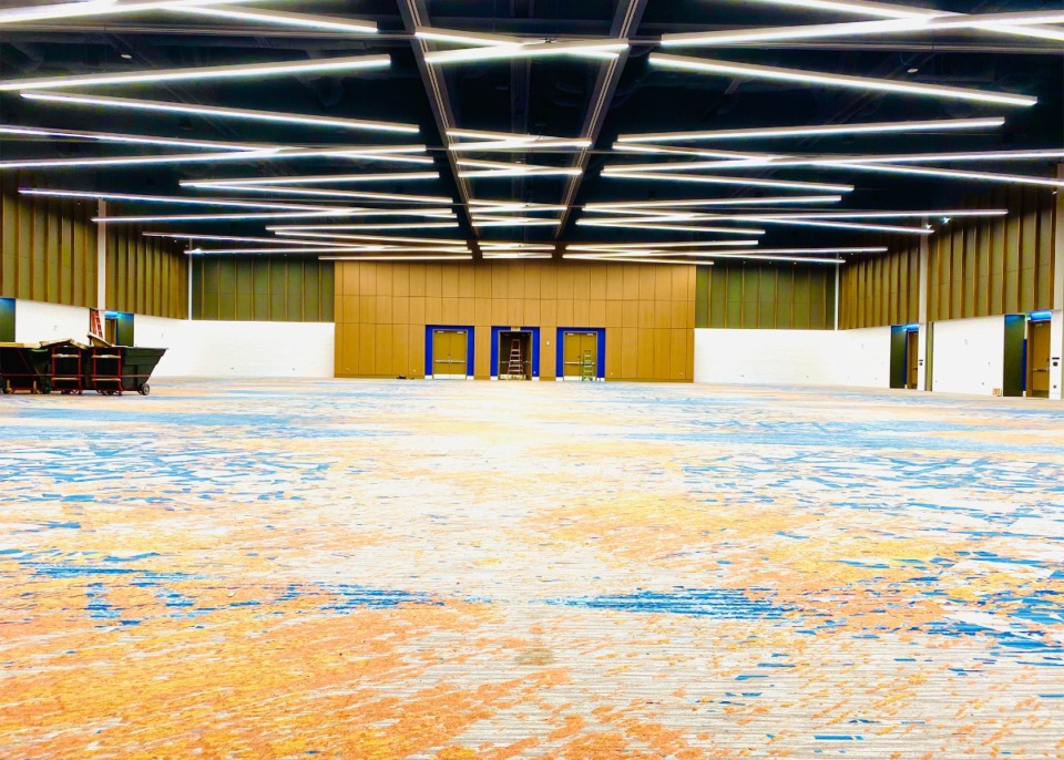 <strong>An 18,000-square-foot Junior Ballroom will greet visitors arriving from the underground parking level of the newly renovated Renasant Convention Center.</strong> (Courtesy of Memphis Tourism)