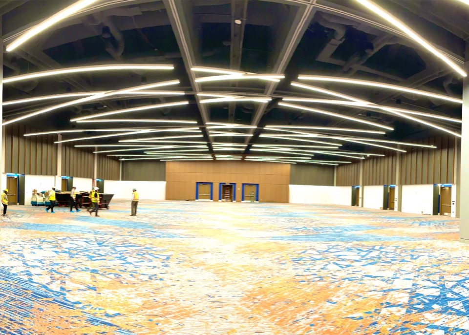 <strong>An 18,000-square-foot Junior Ballroom will greet visitors arriving from the underground parking level of the newly renovated Renasant Convention Center.</strong>&nbsp;(Courtesy of Memphis Tourism)