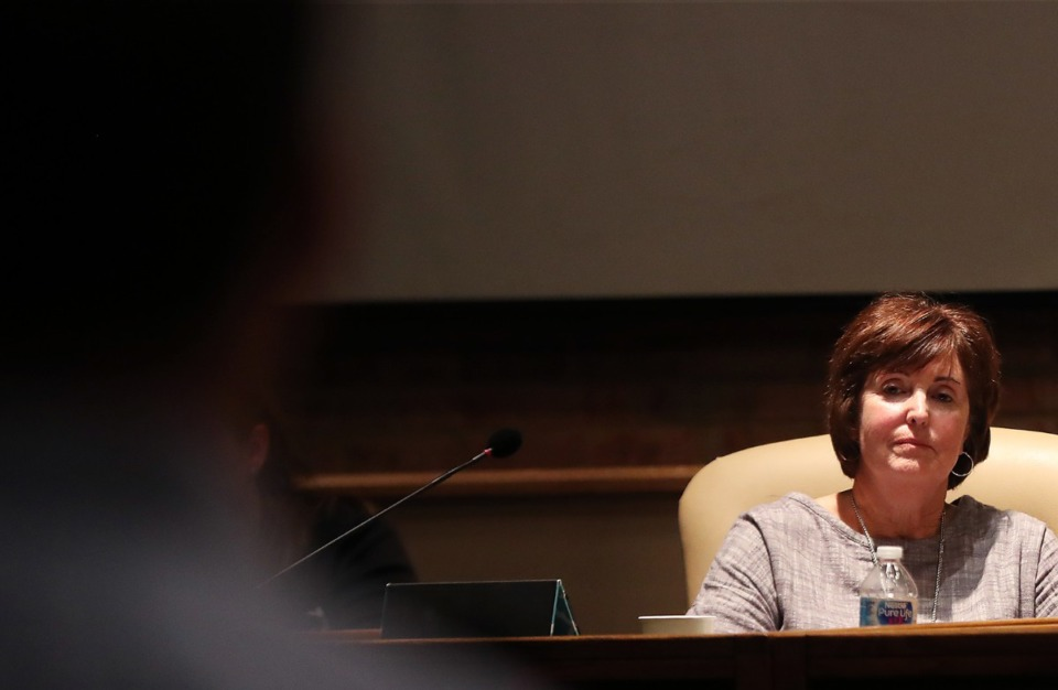 <strong>Germantown School Board member Linda Fisher, seen here in 2019, has decided to step aside from the board.</strong> (Patrick Lantrip/Daily Memphian)