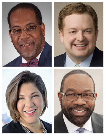 <strong>From top, left: Reginald Coopwood (Regional One Health),&nbsp;Jason Little (Baptist Memorial Health Care), Michael Ugwueke (Methodist Le Bonheur Healthcare) and&nbsp;Sally Deitch (Saint Francis Hospital &ndash; Memphis, Saint Francis Hospital &ndash; Bartlett).</strong>