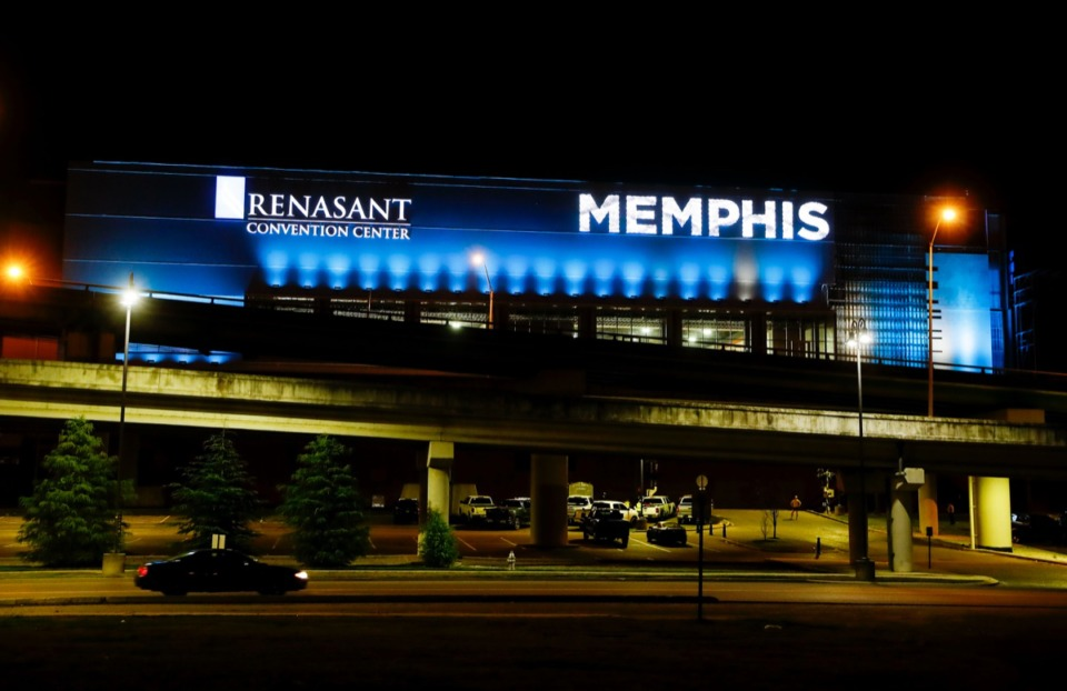 <strong>A new sign illustrates the Renasant Convention Center on Tuesday, Nov. 17, 2020.</strong> (Mark Weber/The Daily Memphian)