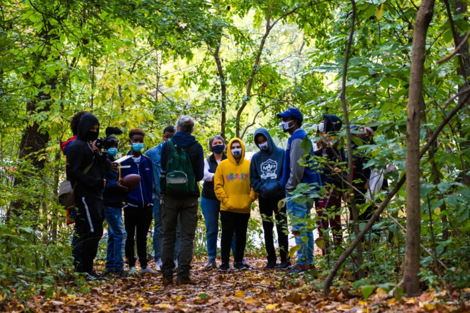 <strong>High school students participating with the Center for Transforming Communities recently explored Overton Park and offered ideas for a new master plan for the park&rsquo;s east side.</strong> (Credit: Overton Park Conservancy)