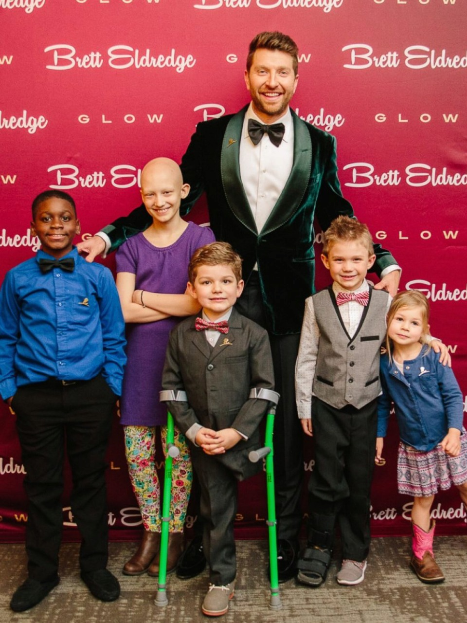 Country music star Brett Eldredge surprised a group of patients by making them his personal guests at a concert earlier this year to commemorate the launch of a partnership between St. Jude Children's Research Hospital and Lyft that enables riders to round up fares to the nearest dollar to support St. Jude's mission. (Courtesy St. Jude)
