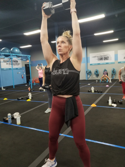<strong>Krista Freeman works out at Burn Boot Camp in Collierville. Owners of gyms like Burn want them to be deemed &ldquo;essential&rdquo; businesses by the Shelby County Health Department, meaning gyms cannot be closed during the pandemic.</strong> (Submitted)