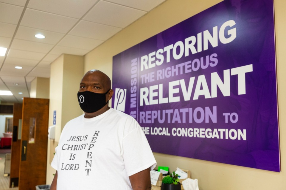 <strong>After being shot recently, Pastor Ricky Floyd (shown at Pursuit of God Church on Sept. 19) resigned as interim chairman of the local Civilian Law Enforcement Review Board (CLERB). Floyd said the shooting made it clear there was more work to do in Frayser.</strong>&nbsp;(Ziggy Mack/Daily Memphian file)