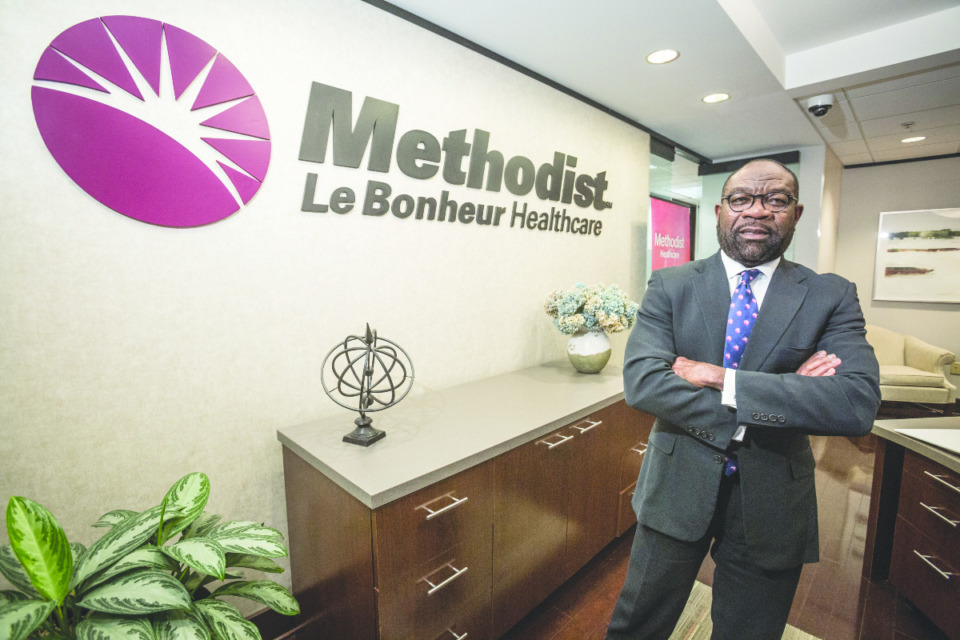 <strong>Michael Ugwueke started in his role of CEO at Methodist Healthcare in the first week of 2017.</strong> (Daily Memphian file)