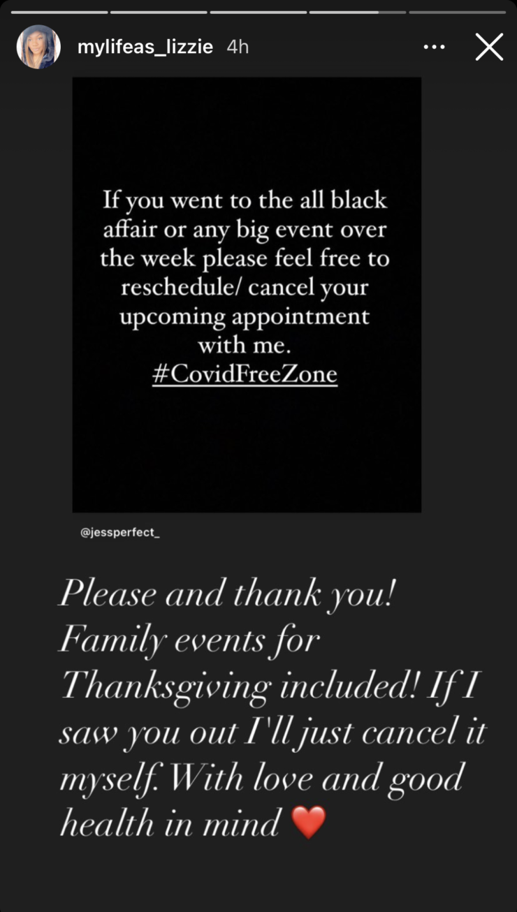 <strong>This is a message several local nail salon owners, cosmetologists and other business owners, shared on Instagram after the party.</strong>