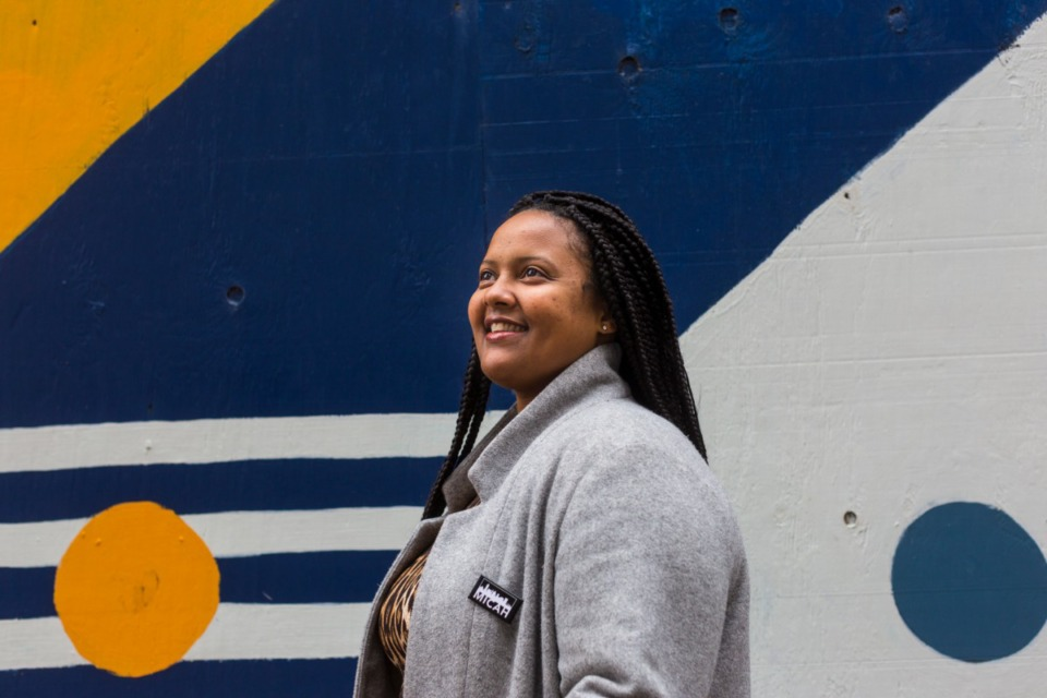 <strong>JUICE Orange Mound founder and executive director Britney Thornton is photographed in downtown Memphis on January 10, 2020</strong>