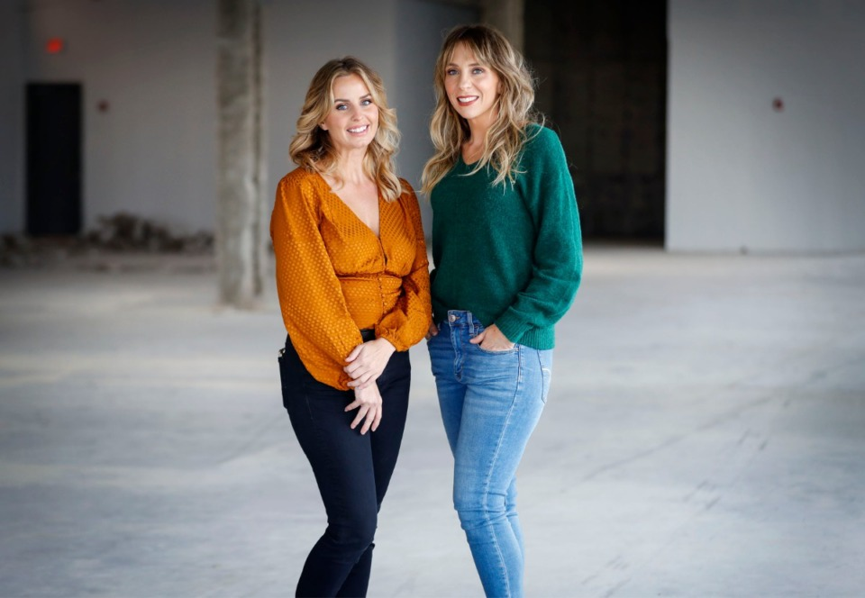 <strong>Sonder Luxury Suites owners Brittany Hart (left) and Courtney Kelly, seen here on Monday, Nov. 30, 2020. They expect to open by mid-February 14 spaces to lease to beauty and health businesses inside the The Citizen on Union Avenue. The suites will occupy 2,600 square feet on the west end of The Citizen&rsquo;s commercial space.</strong> (Mark Weber/The Daily Memphian)