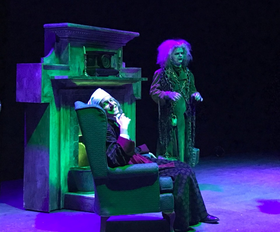 <strong>David Shipley (left) and Jason Eschhofen perform as, respectively, Ebenezer Scrooge and Jacob Marley in &ldquo;A Christmas Carol.&rdquo;</strong>