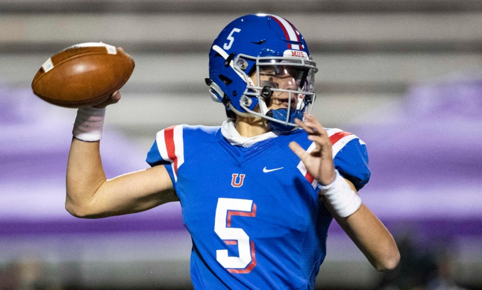 <strong>George Hamsley of MUS throws a pass against McCallie on Thursday, Dec. 3, 2020, in Cookeville, Tennessee.</strong> (Wade Payne/www.wadepaynephoto.com)