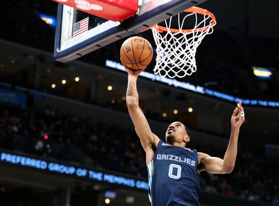 <strong>Grizzlies guard De'Anthony Melton is excited to be back with the team after signing a four-year, $34 million contract.</strong> (Patrick Lantrip/Daily Memphian file)