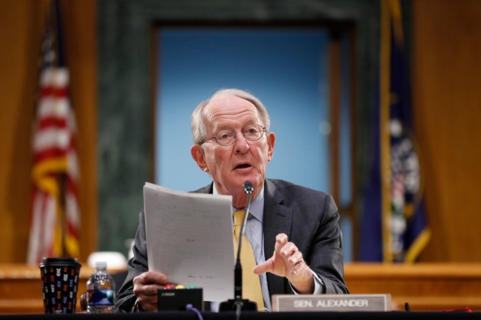 <strong>Outgoing Tennessee Sen. Lamar Alexander, seen here in May, made a prediction on the Politics Podcast: &ldquo;I&rsquo;m not sure when there will ever be a post-Trump party because whether he&rsquo;s president or whether he&rsquo;s not, he&rsquo;s going to be a factor in our party and in our country.&rdquo;</strong> (Andrew Harnik/AP file)