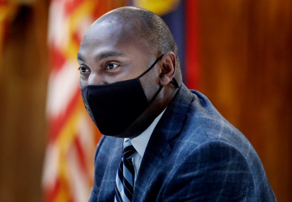 <strong>Shelby County Mayor Lee Harris (in a file photo) said the Health Department has contacted 70-75% of people with confirmed coronavirus cases, or about 35,000 individuals. </strong>(Mark Weber/Daily Memphian)