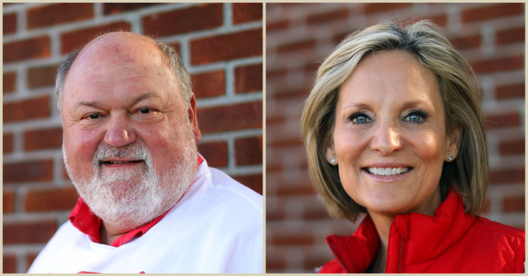 <strong>John Worley, left, and Missy Marshall won the runoff in Collierville Tuesday night.</strong> (Daily Memphian file photos)