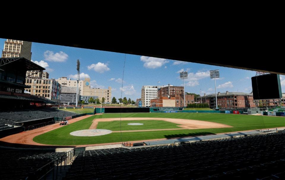 <strong>Minor league baseball and the Memphis Redbirds will remain at AutoZone Park through the 2030 season, the St. Louis Cardinals announced on Wednesday, Dec. 9.</strong> (Mark Weber/Daily Memphian file)