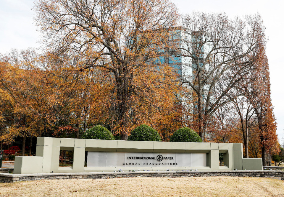 <strong>International Paper Global Headquarters is based on Poplar Avenue in East Memphis.&nbsp;</strong>(Mark Weber/The Daily Memphian)