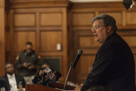 <strong>Mayor Jim Strickland delivers his 2018 state of the city speech to the Memphis Kiwanis at The University Club in January, reviewing his administration's accomplishments over the previous two years and looking ahead at opportunities developing in the city.</strong> (Daily Memphian file)