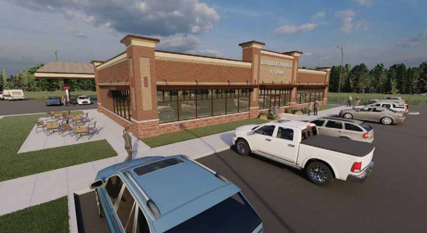 <strong>A rendering shows what the proposed convenience store south of Tenn. 385 could look like. Collierville approved a conditional use permit for the store on Monday, Dec. 14, 2020.</strong> (Submitted)