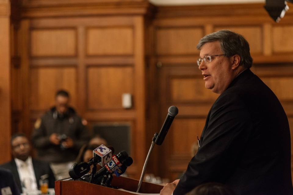 <strong>Mayor Jim Strickland, seen here in 2019, has his own &ldquo;reimagine policing&rdquo; group that is working on recommendations on police reforms.</strong> (Daily Memphian file)