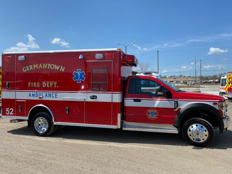 <strong>Suburban ambulance services, like this one from Germantown, are suffering offloading delays.</strong>&nbsp; (Courtesy of City of Germantown)