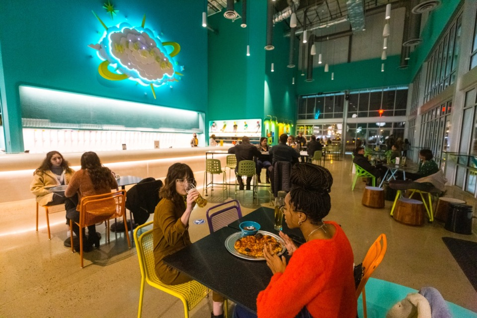 <strong>Patrons attend the soft opening of Little Bettie inside Wiseacre Brewing Downtown on Dec. 17, 2020.</strong> (Ziggy Mack/Daily Memphian)