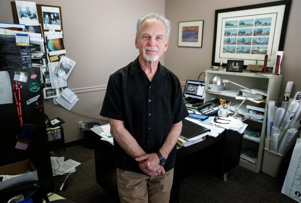 <strong>Steve Lockwood (in his office on Friday, March 27, 2020) has retired from his fulltime job as director of Frayser Community Development Corp., but&nbsp;&ldquo;I&rsquo;m happy to still have a role.&rdquo;&nbsp;</strong>(Mark Weber/The Daily Memphian file)