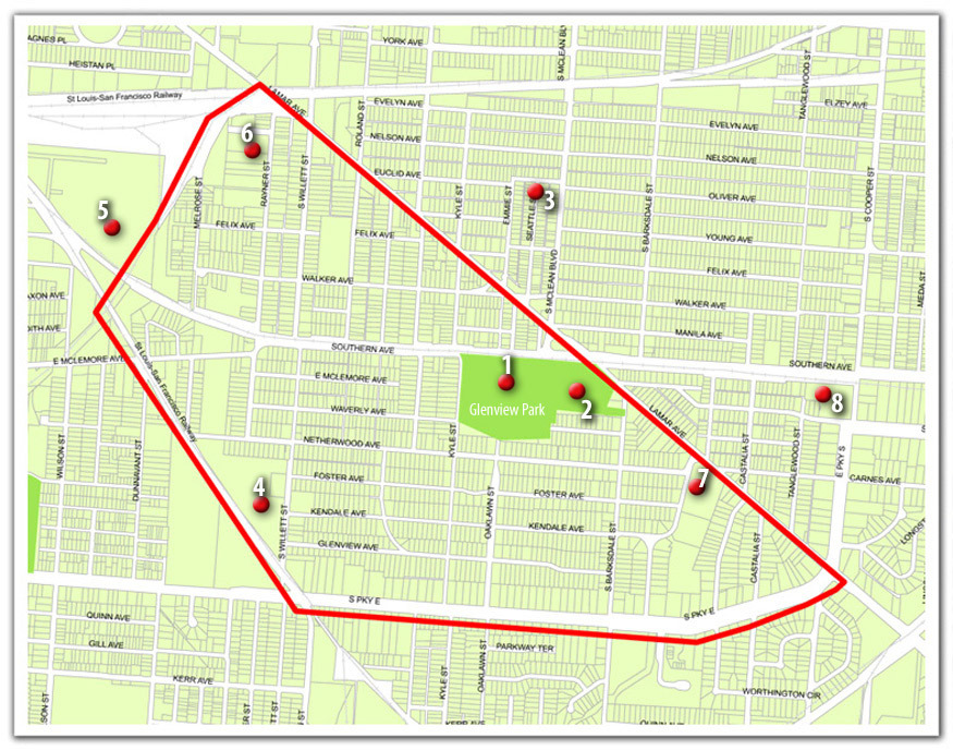 <strong>Map provided by the president of the Glenview Edgewood Manor Area Neighborhood Association.</strong>