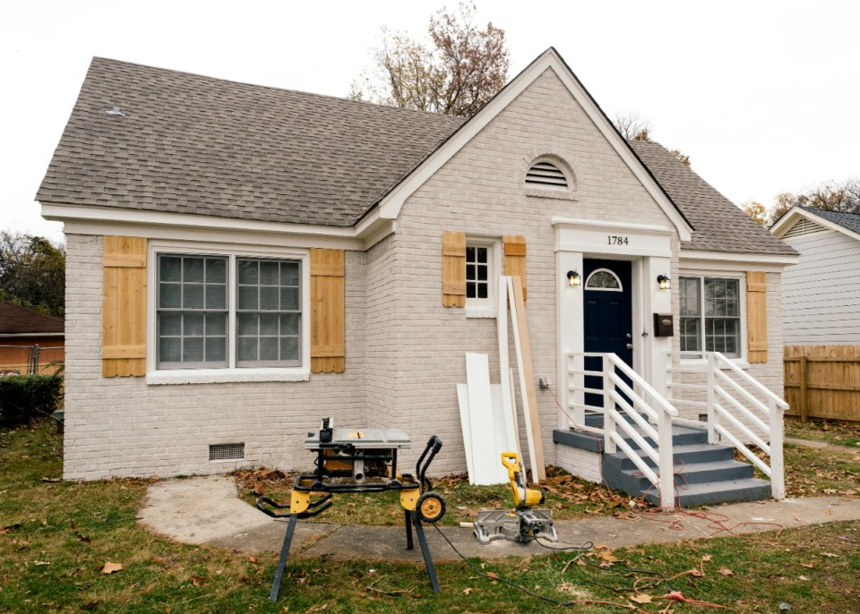 <strong>Matt Wallace, a Realtor for The Wallace Group at Keller Williams Realty, has been buying and renovating homes in the Glenview National Historic District to sell. This four bedroom, three bath 2,400-square-foot home at 1782 Netherwood Ave. is nearing completion and will likely sell for close to $240,000.</strong> (Houston Cofield/Special to Daily Memphian)