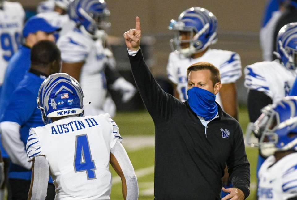 <strong>Memphis coach Ryan Silverfield directs his team in their game against Florida Atlantic on Wednesday, Dec. 23, in the Montgomery Bowl at Cramton Bowl in Montgomery, Ala.</strong> (Julie Bennett/Memphis Athletics)