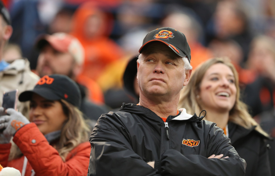 <strong>An unhappy fan looks on as the Missouri Tigers attempt to make a late comeback against his Oklahoma State Cowboys. Ultimately, OSU held on to win the 60th AutoZone Liberty Bowl.</strong> (Patrick Lantrip/Daily Memphian)