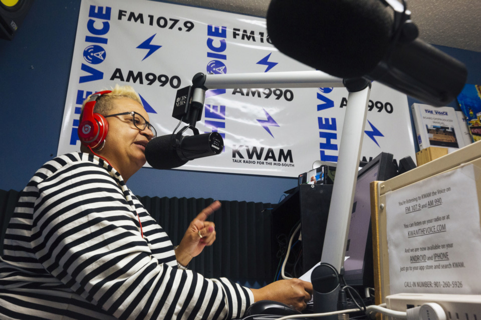 <strong>Gwendolyn Clemons, along with her son Davin, hosts a weekly LGBTQ radio program at KWAM 990 Radio in East Memphis.&nbsp;The Unleashed Voice Radio Show airs at 5 p.m. on Saturdays.</strong> (Ziggy Mack/Special to The Daily Memphian)