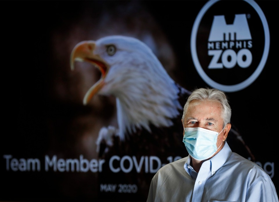 <strong>Memphis Zoo CEO Jim Dean discusses new safety measures and protocols on Monday, May 11, 2020</strong>. (Mark Weber/Daily Memphian file)