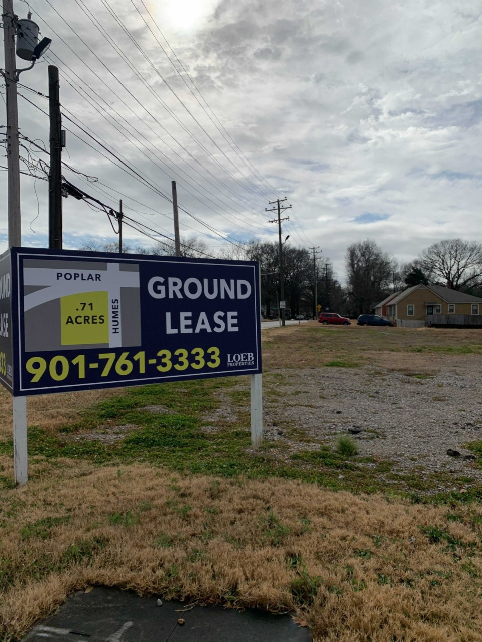 <strong>A new building is coming to this site at Poplar Avenue and Humes Street.</strong> (Elle Perry/The Daily Memphian)
