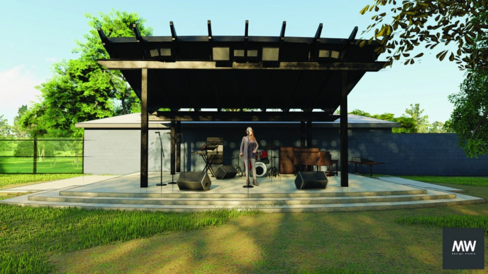 <strong>The Memphis Slim House on College Street in South Memphis has plans to build an amphitheater on a newly purchased lot behind the house. Artists will have to pay to use the space but performances will be free for attendees.</strong> (Memphis Slim Collaboratory/Merger Works)